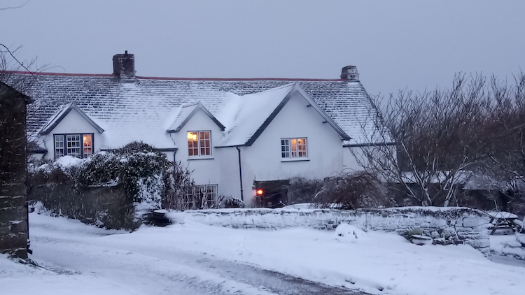 The Rectory covered in snow after a visit from the Beast from the East 2018.