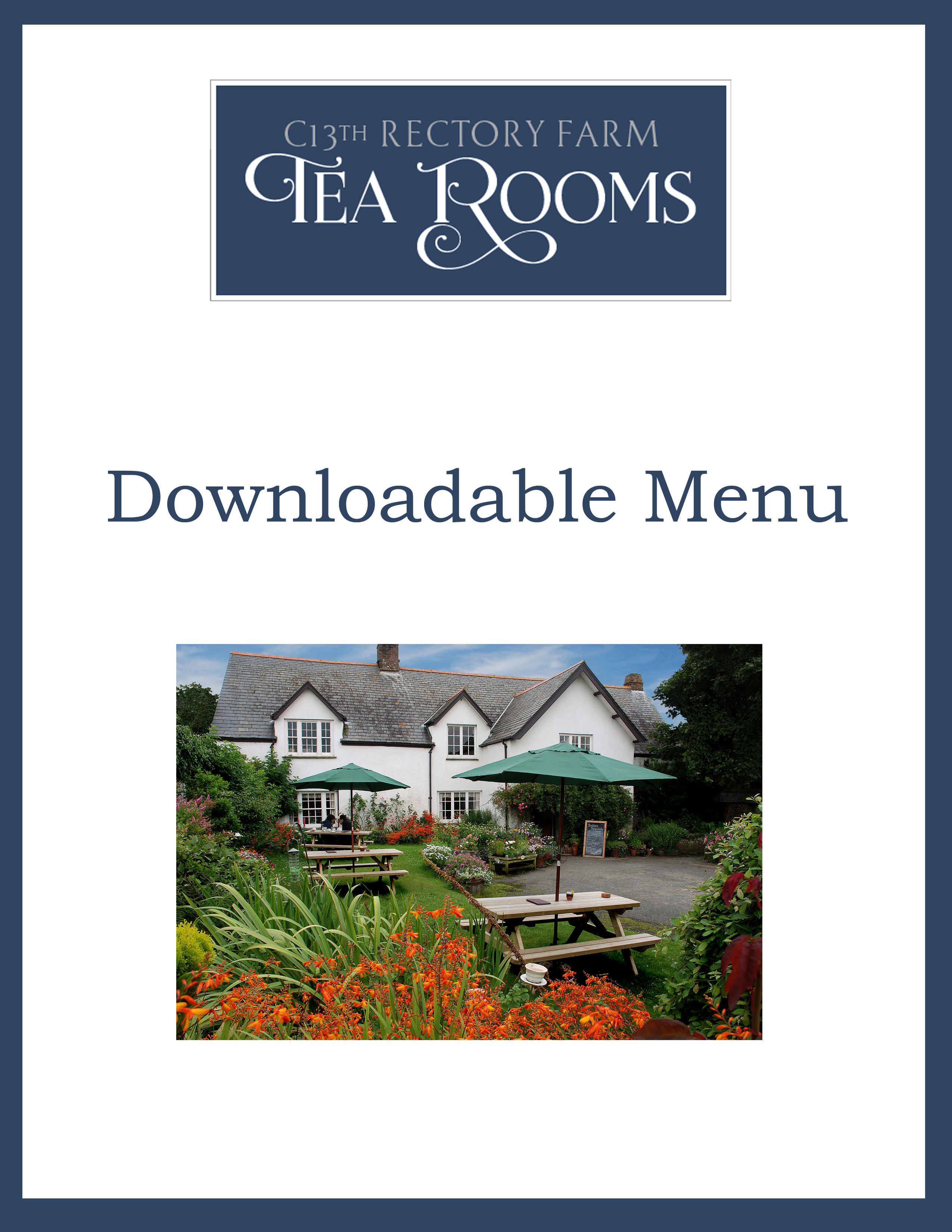 Click Here to Download a PDF of Our Speciality Teas Menu
