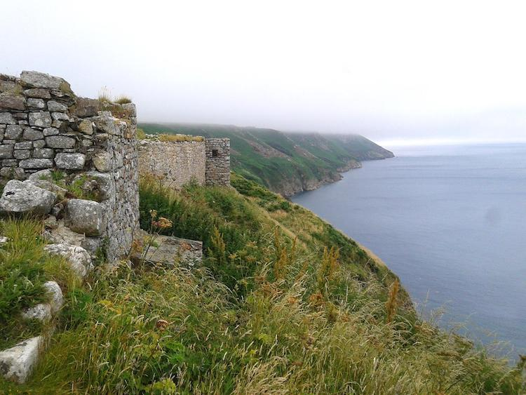 Historic Fortifications along Lundy's Coast.