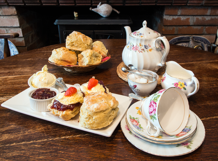 One of our Delicious Cream teas Served on Some of Our Vintage China.