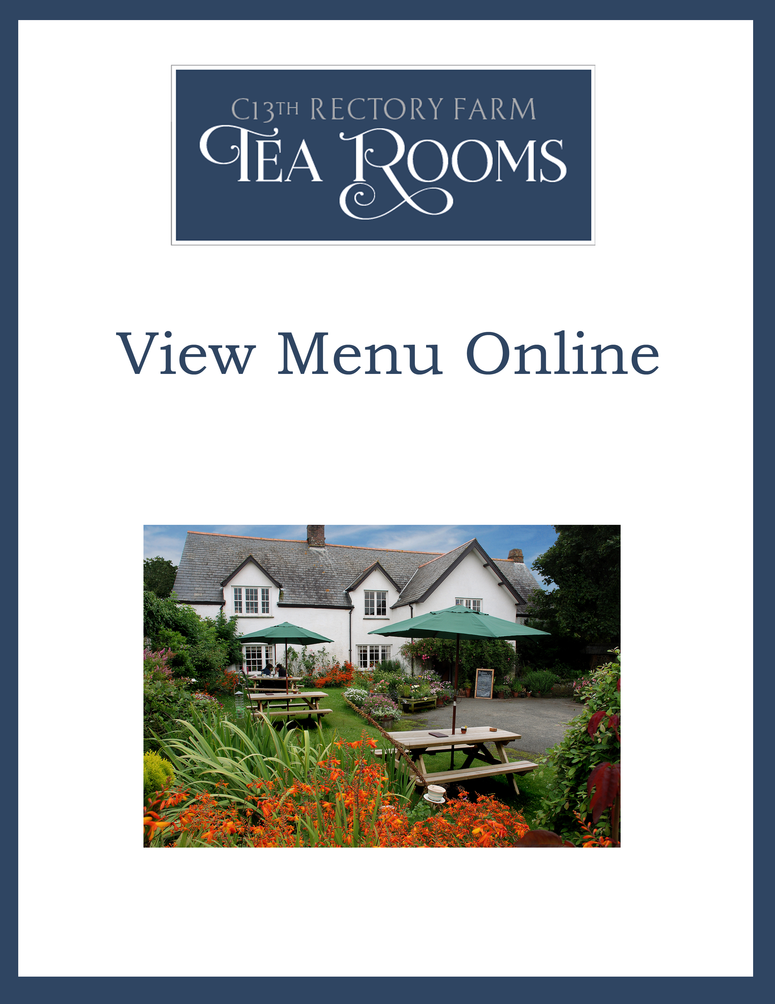 Click Here to View an Online Version of Our Speciality Teas Menu.
