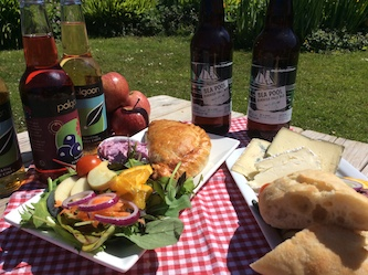 Pasty Salad and Cornish Beers in the Sun