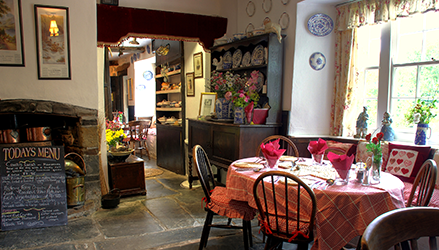 A Photo of The Dining Room Inside the Tearooms